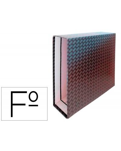 Caja archivador de palanca carton forrado elba folio lomo 85 mm negro