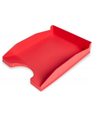Bandeja sobremesa plastico q connect coral opaco