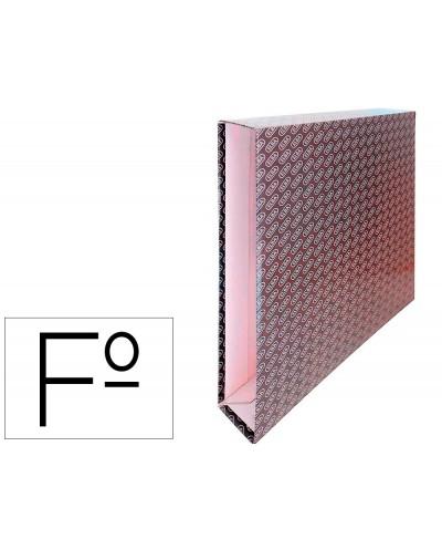 Caja archivador de palanca carton forrado elba folio lomo 65 mm negro