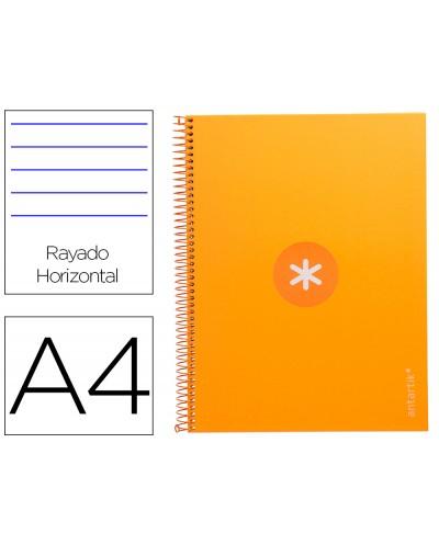 Cuaderno espiral liderpapel a4 micro antartik tapa forrada80h 90 gr horizontal 1 banda 4 taladros color mostaza