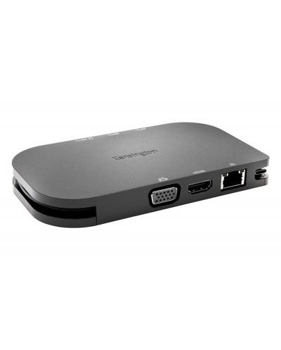 Replicador movil kensington usb c 5 gbps sd1600p con carga pass through 4k hdmi o hd vga windows chrome mac
