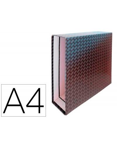 Caja archivador de palanca carton forrado elba din a4 lomo 85 mm negro