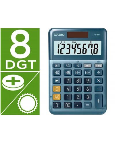 Calculadora casio ms 80e sobremesa 8 digitos tx tecla doble cero color azul