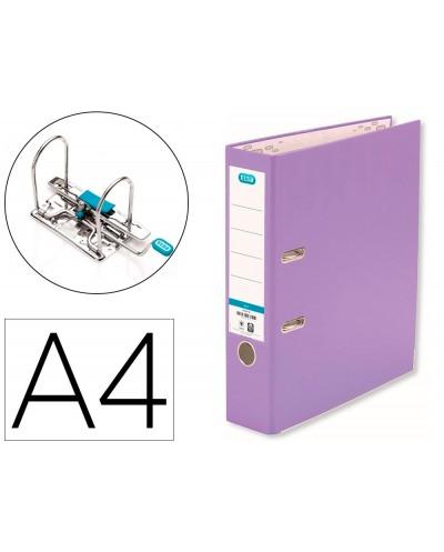 Archivador de palanca elba top carton compacto polipropileno con rado din a4 lomo de 80 mm violeta