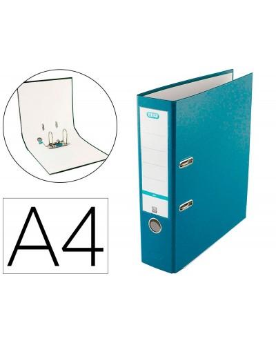 Archivador de palanca elba top carton compacto polipropileno con rado din a4 lomo de 80 mm turquesa
