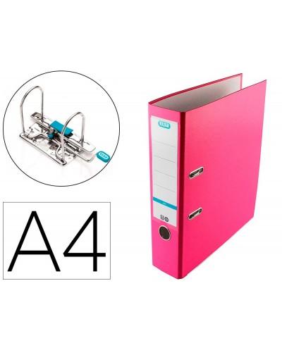 Archivador de palanca elba top carton compacto polipropileno con rado din a4 lomo de 80 mm rosa