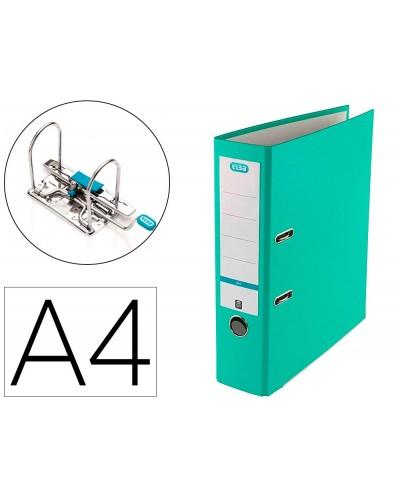 Archivador de palanca elba top carton compacto polipropileno con rado din a4 lomo de 80 mm ice mint