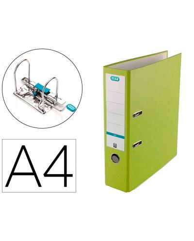 Archivador de palanca elba top carton compacto polipropileno con rado din a4 lomo de 80 mm lima