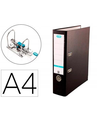 Archivador de palanca elba top carton compacto polipropileno con rado din a4 lomo de 80 mm negro