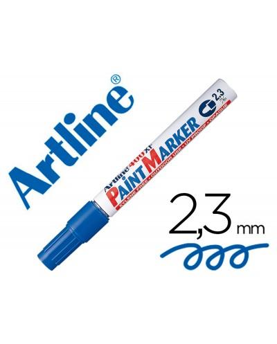 Rotulador artline marcador permanente ek 400 xf azul punta redonda 23 mm metal caucho y plastico
