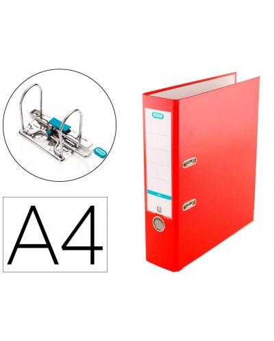 Archivador de palanca elba top carton compacto polipropileno con rado din a4 lomo de 80 mm rojo