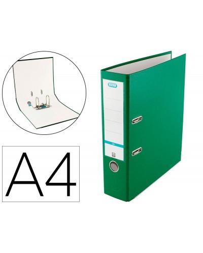 Archivador de palanca elba top carton compacto polipropileno con rado din a4 lomo de 80 mm verde