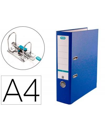 Archivador de palanca elba top carton compacto polipropileno con rado din a4 lomo de 80 mm azul