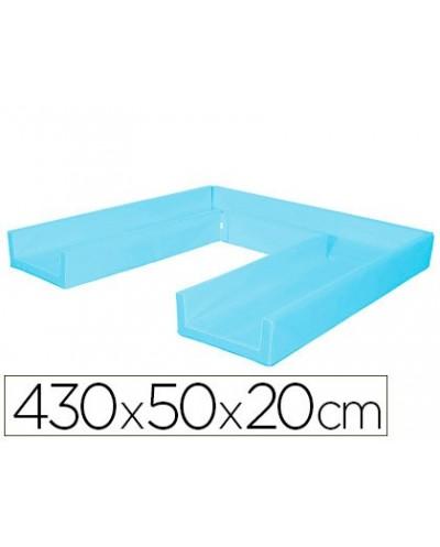Circuito modular de gateo sumo didactic 430x50x20 cm celeste
