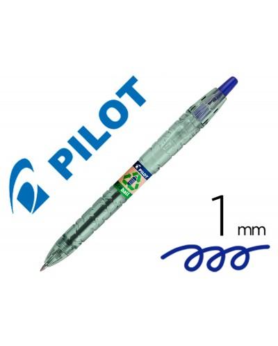 Boligrafo pilot ecoball plastico reciclado tinta aceite punta de bola 1 mm color azul
