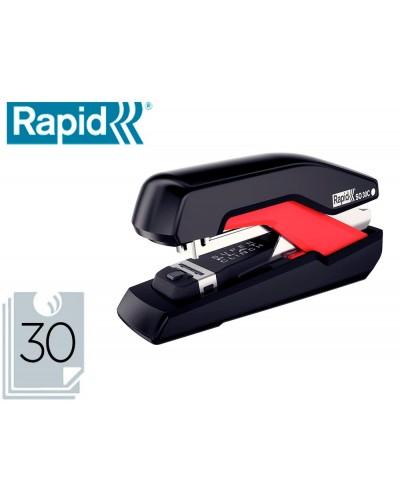 Grapadora rapid so30c plastico negro rojo capacidad 30 hojas usa grapas omnipress 30