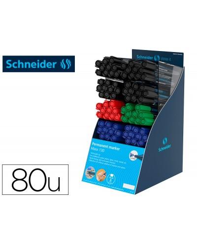 Rotulador schneider maxx 130 permanente punta redonda 1 3 mm reciclado 95 exp80 unidades stdas 218x315x168 mm