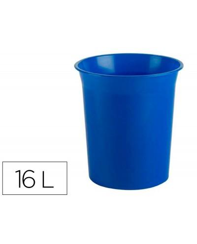 Papelera plastico archivo 2000 antimicrobiana sanitized plastico azul 16 litros 290x310 mm