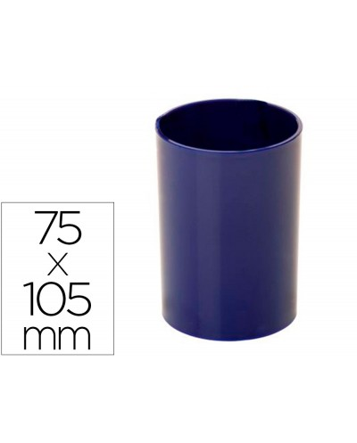 Cubilete portalapices archivo 2000 antimicrobiano sanitized redondo azul 75x105 mm