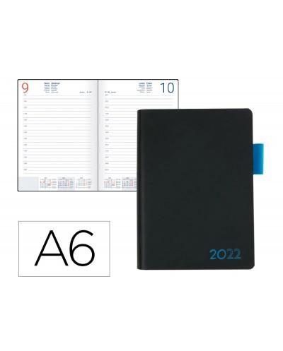 Agenda encuadernada liderpapel sifnos a6 2022 dia pagina papel 70 gr color azul