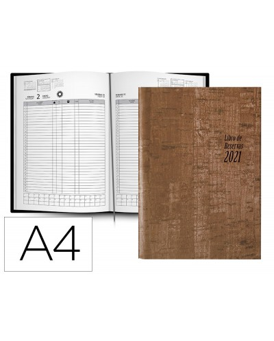 Libro de reservas liderpapel 2021 din a4 dos paginas dia 752 paginas papel blanco 70 gr