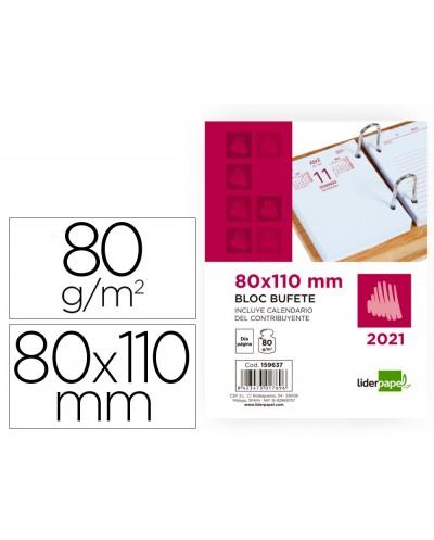 Bloc bufete liderpapel 80x110 mm 2021 papel 80 gr texto en castellano
