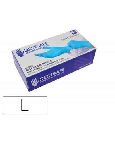 Guantes de nitrilo bestsafe talla l caja de 100 unidades