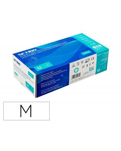 Guantes de vinilo setino talla m caja de 100 unidades