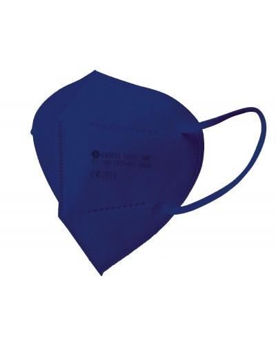 Mascarilla facial ffp2 azul tejano autofiltrante con certificado ce