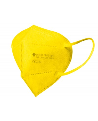 Mascarilla facial ffp2 amarilla autofiltrante certificado ce