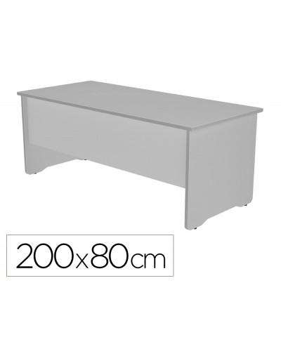Mesa de oficina rocada work 2004ab02 aluminio gris 200x80 cm