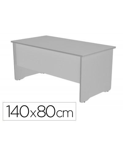 Mesa de oficina rocada work 2001ab02 aluminio gris 140x80 cm