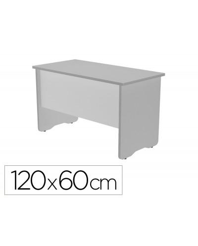 Mesa de oficina rocada work 2000ab02 aluminio gris 120x60 cm