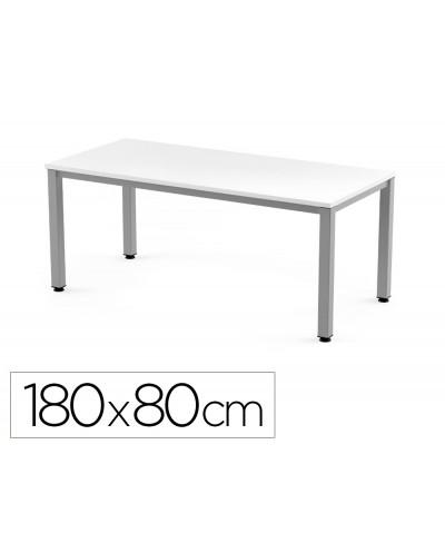 Mesa de oficina rocada executive 2003ad04 aluminio blanco 180x80 cm
