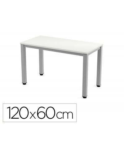 Mesa de oficina rocada executive 2000ad04 aluminio blanco 120x60 cm