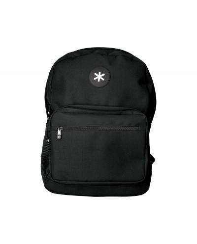 Cartera antartik mochila con asa y bolsillo frontal concremallera color negro 320x140x430 mm