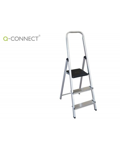 Escalera q connect de aluminio 3 peldanos 590x400x1260 mm peso maximo 150 kg en 131