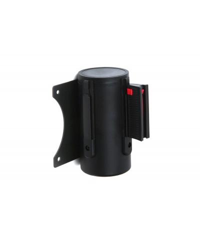 Cinta extensible de pared separadora retractil de 3 mt clips a ambos lados y clip de recepcion color negro