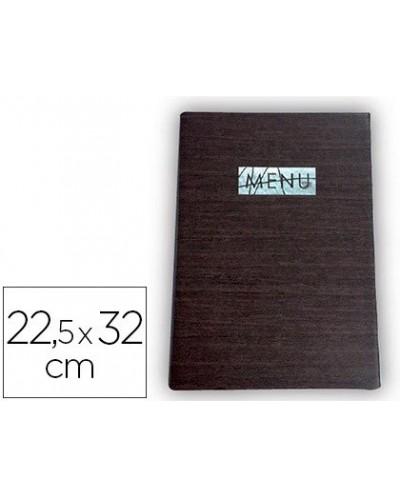 Porta menus liderpapel pu 225 x 32 cm con sujeccion en esquinas para 2 hojas