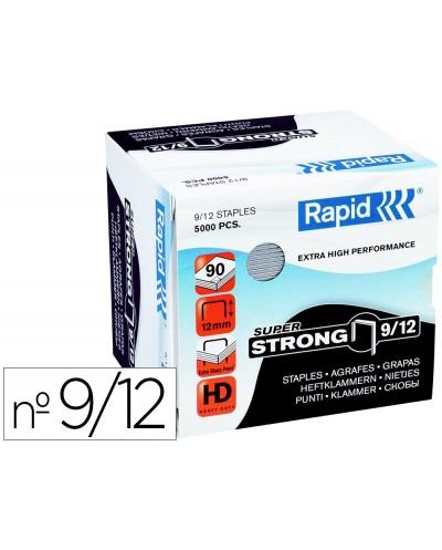 Grapas rapid super strong galvanizadas nº9 12 caja de 5000 unidades