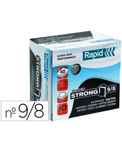 Grapas rapid super strong galvanizadas nº9 8 caja de 5000 unidades