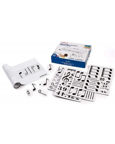 Juego miniland pizarra musical pautada con 85 figuras magneticas y 1 folleto