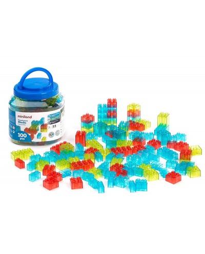 Juego miniland de construccion 1000 piezas encajables de diferentes tamanos y colores 180x180x180