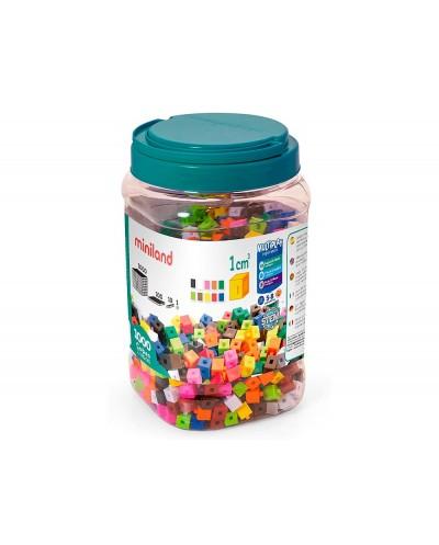 Juego miniland surtido de 1000 cubos de 1 cm para apoyar conceptos matematicos 125x215x125 mm