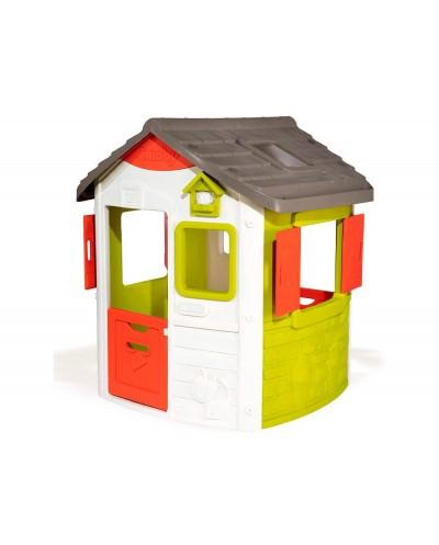 Casa de actividades smoby jura lodge ii con dos ventanas y dos puertas batientes 115x123x132 cm