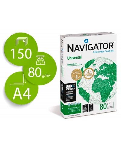 Papel fotocopiadora navigator din a4 80 gramos paquete de 150 hojas