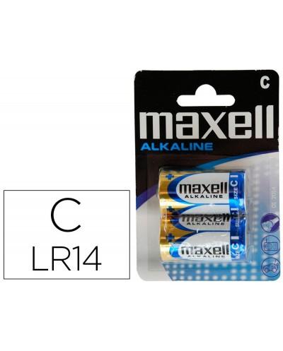 Pila maxell alcalina 15 v tipo c lr14 blister de 2 unidades
