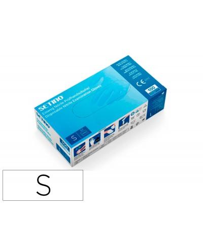 Guantes de vinilo setino talla s caja de 100 unidades