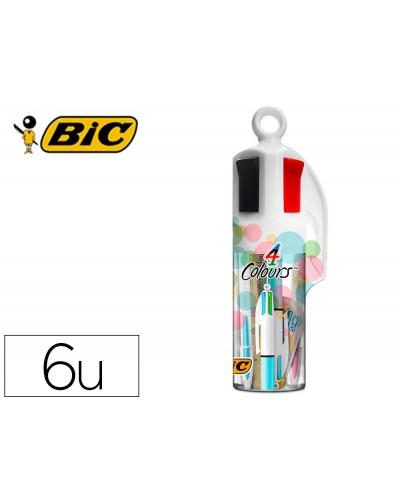 Set bic megatubo pastel 2 cristal up 1 cuatro colores pastel 2 fluorescentes grip pastel 1 corrector mini