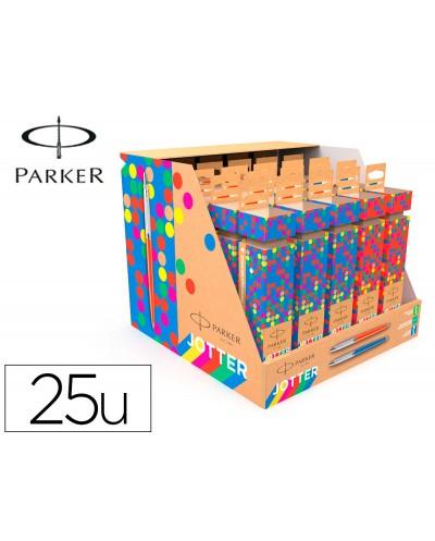 Boligrafo parker jotter originals cracker expositor de 25 unidades surtidas